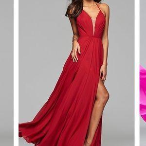 Red Floor Length Dress